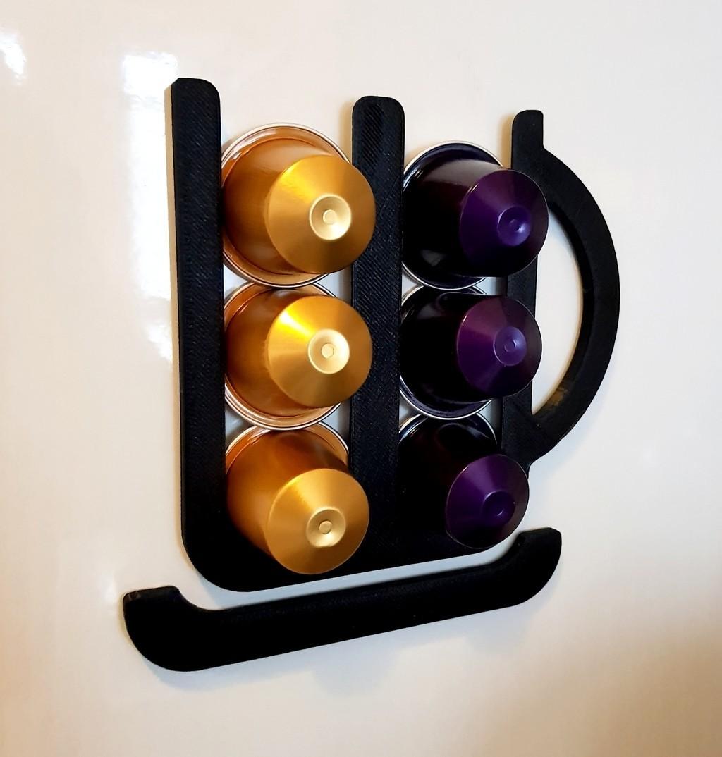 Nespresso Capsule Holder 02.jpg Download free STL file Nespresso Capsule Holder • Design to 3D print, phobosmoon