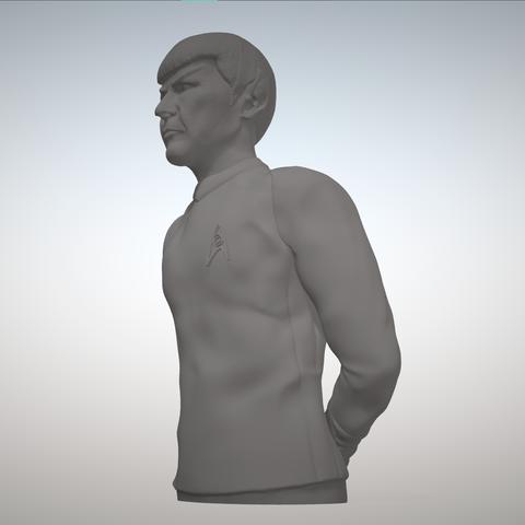 Sandpiper_Spock_Full2.png Download STL file Star Trek Mr. Spock figurine and bust UPDATED • 3D printable object, sandpiper