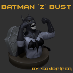Batman_Z_1.png Download STL file Batman 'Z' Bust • 3D printer model, sandpiper