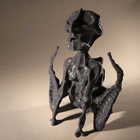 HMN_4.png Download free STL file His Master's Noise statuette • 3D printing design, sandpiper