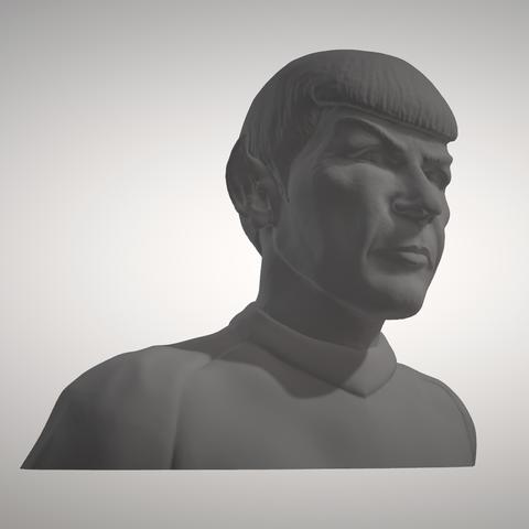 Sandpiper_Spock_Bust5.png Download STL file Star Trek Mr. Spock figurine and bust UPDATED • 3D printable object, sandpiper