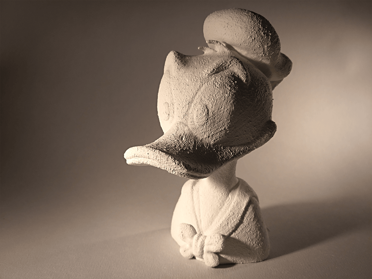 Donaldduck_final1.png Download free STL file Donald Duck bust • 3D print object, sandpiper