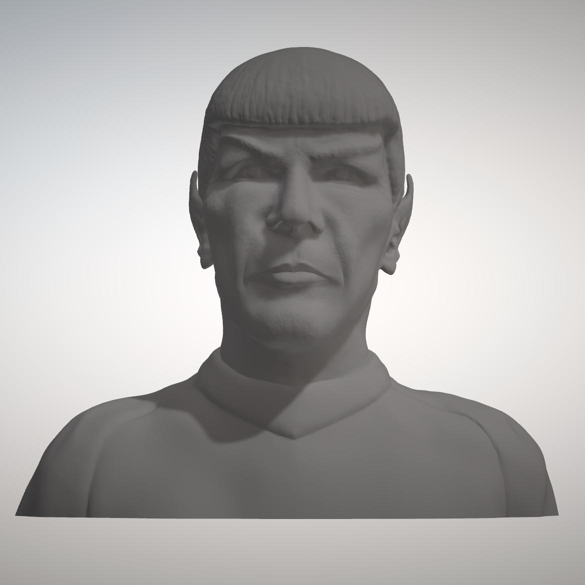Sandpiper_Spock_Bust1.png Download STL file Star Trek Mr. Spock figurine and bust UPDATED • 3D printable object, sandpiper