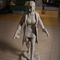 Sandpiper - Sergeant 1.png Download STL file Female Sergeant Figurine • 3D print model, sandpiper