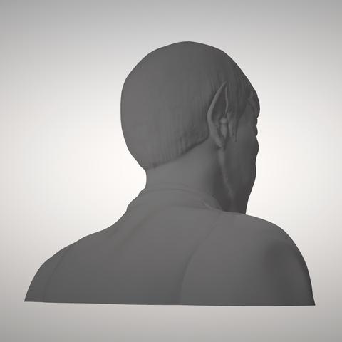 Sandpiper_Spock_Bust4.png Download STL file Star Trek Mr. Spock figurine and bust UPDATED • 3D printable object, sandpiper