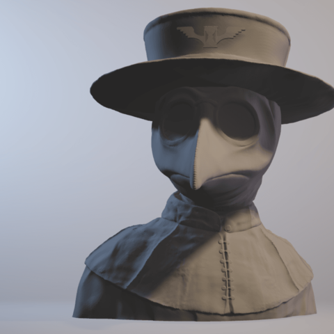 Sandpiper - Plague Doctor.png Download free STL file Plague Doctor bust • 3D print object, sandpiper