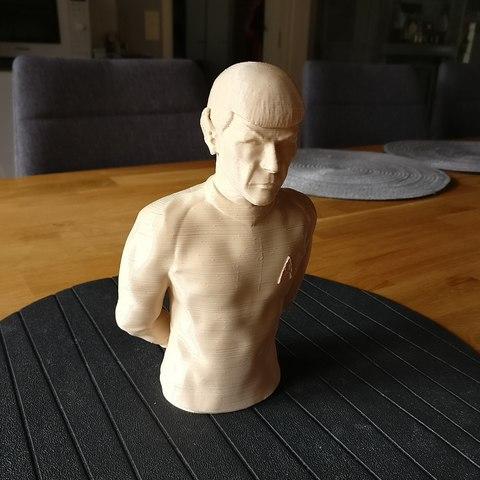 Sandpiper_Spock_print2.jpg Download STL file Star Trek Mr. Spock figurine and bust UPDATED • 3D printable object, sandpiper