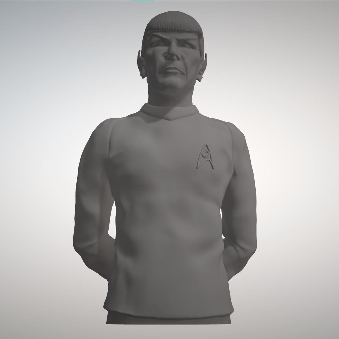 Sandpiper_Spock_Full1.png Download STL file Star Trek Mr. Spock figurine and bust UPDATED • 3D printable object, sandpiper
