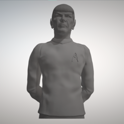 3d printer designs Star Trek Mr. Spock figurine and bust, sandpiper