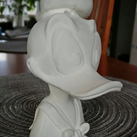 DDprinted.jpg Download free STL file Donald Duck bust • 3D print object, sandpiper