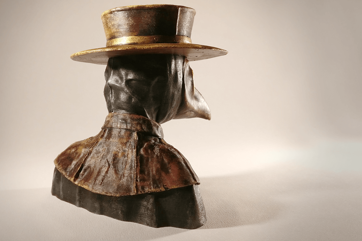 PD_final_3.png Download free STL file Plague Doctor bust • 3D print object, sandpiper