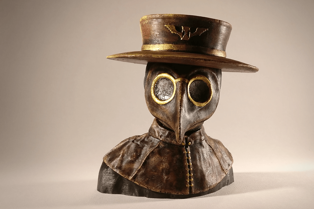 PD_final_2.png Download free STL file Plague Doctor bust • 3D print object, sandpiper