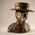 Free 3D printer designs Plague Doctor bust, sandpiper