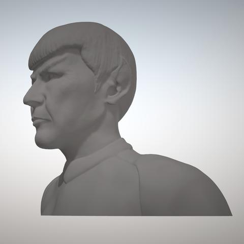 Sandpiper_Spock_Bust2.png Download STL file Star Trek Mr. Spock figurine and bust UPDATED • 3D printable object, sandpiper