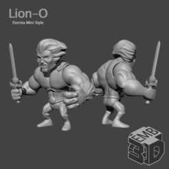 LionO.png Download STL file Lion-O Eternia Mini's Style • Template to 3D print, emboyd