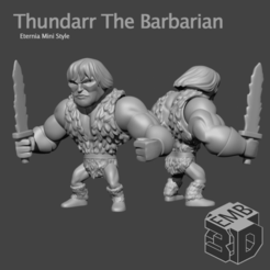 Thundarr.png Download STL file Thundarr Eternia Mini's Style • 3D printable design, emboyd
