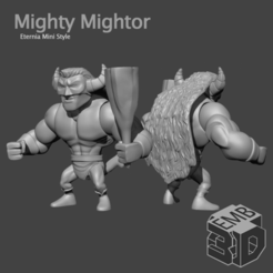 Mightor.png Download STL file Mighty Mightor Eternia Mini's Style • 3D printer object, emboyd