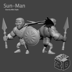 Sun-Man.png Download STL file Sun-man Eternia Mini's Style • Object to 3D print, emboyd