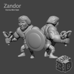 Zandor.png Download STL file Zandor Eternia Mini's Style • 3D print template, emboyd