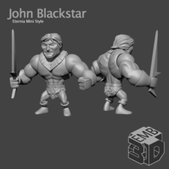 JohnBlackstarEMB.png Download STL file John Blackstar Eternia Mini's Style • 3D printable object, emboyd