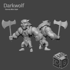 Darkwolf.png Download STL file Darkwolf Eternia Mini's Style • Template to 3D print, emboyd
