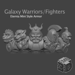GW001.png Download STL file Galaxy Warriors-Fighters5 Pack Eternia Mini's Style (Set 1) • 3D printer design, emboyd