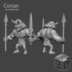 Conan.png Download STL file Conan Eternia Mini's Style • 3D printable model, emboyd