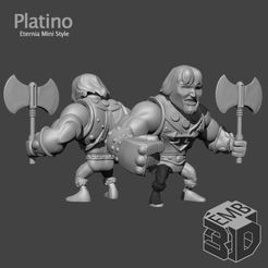 Platino.png Download STL file Platino Fuerza-T Eternia Mini's Style • 3D printing object, emboyd
