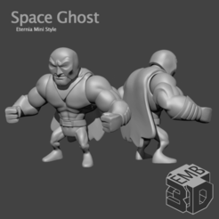 Space Ghost.png Download STL file Space Ghost Eternia Mini's Style • Design to 3D print, emboyd