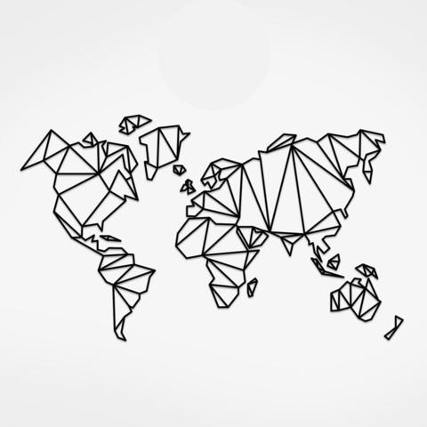 Carte Du Monde Origami.Fichier Stl Carte Du Monde Geometrique Carte Du Monde Geometrique