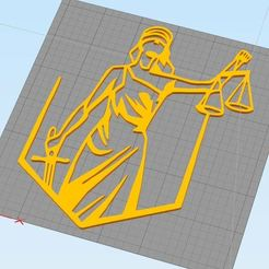 Lady of justice.JPG Download OBJ file Themis Lady of Justice 2D art for wall decoration • 3D printer object, renatoknob