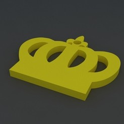 Download 3D printer templates Crown keychain, renatoknob