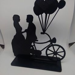 3D printing model Wedding Cake Topper Bike, renatoknob