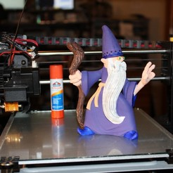 Download free OBJ file Rolf the Wizard • 3D printable template, wjh2