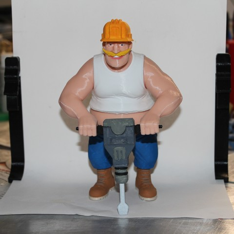 Download free STL file Bold Machines: Bridge Worker for the Margo Movie • 3D print model, boldmachines