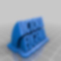 Télécharger fichier impression 3D gratuit Victoria Eugenia Texte Font Banger, xerbar