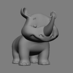 RHINO.jpg Download STL file Rhinoceros • 3D printing template, BertrandW