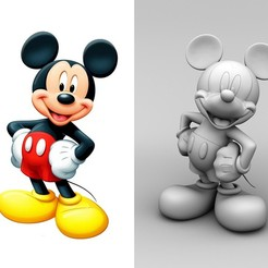 MICKEY.jpg Download STL file MICKEY MOUSE • 3D print object, BertrandW