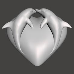 Télécharger fichier 3D Coeur Dauphins, BertrandW