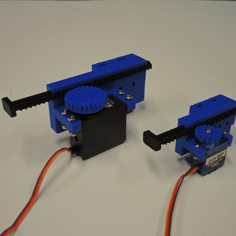 Descargar diseños 3D gratis Servoactuadores lineales, potentprintables