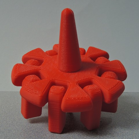 Free 3d printer model Spinning Top with Articulated Arms, potentprintables