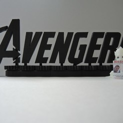 Download free 3D printer files Avengers Rotating Logo, potentprintables