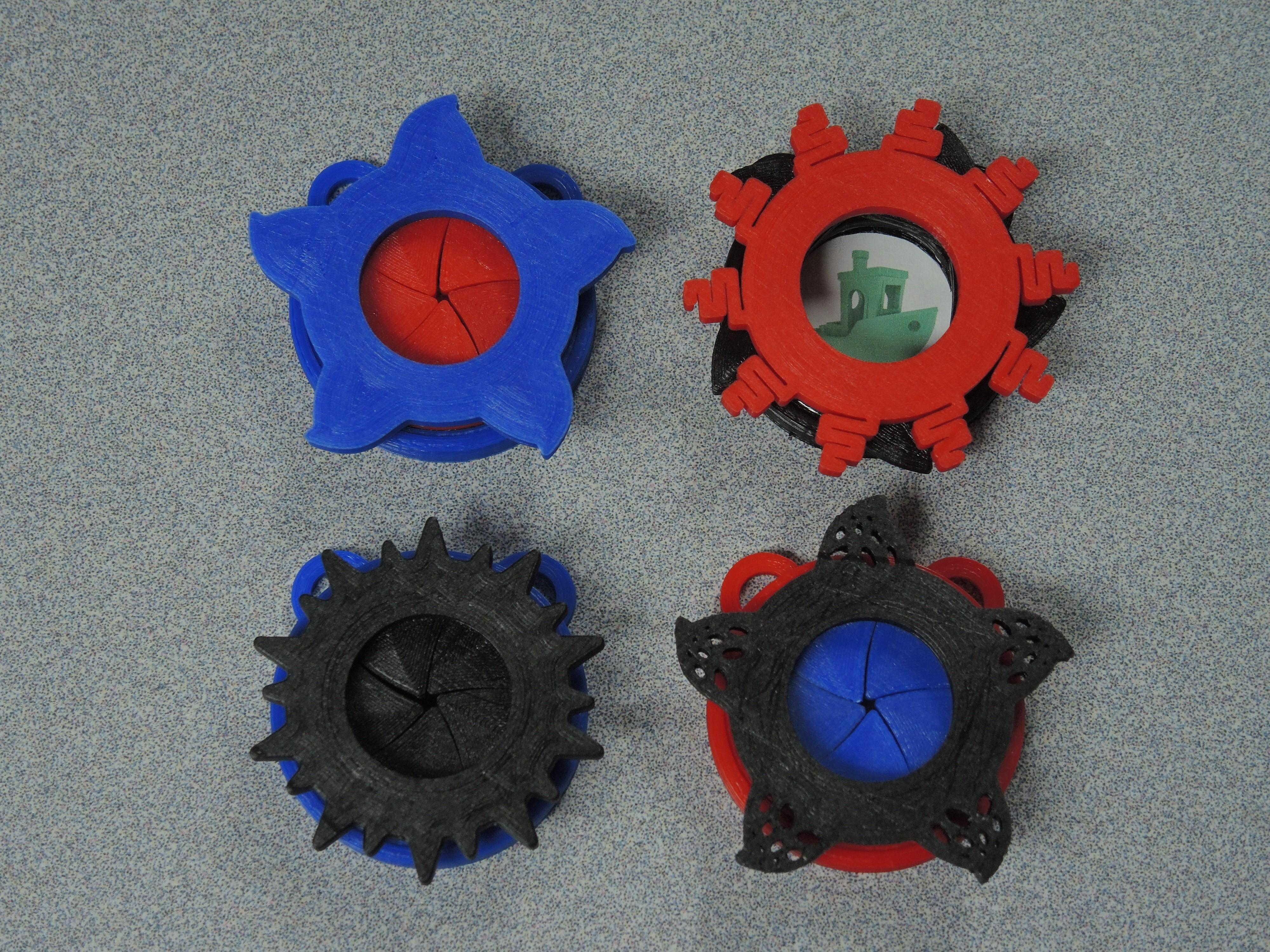 All 4, One Open Iris.JPG Télécharger fichier STL gratuit Pendentif Iris • Design pour impression 3D, potentprintables