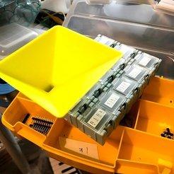 Descargar archivos STL gratis Embudo para caja de piezas, necobut
