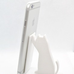 Download free 3D printing files Cat Phone Stand, necobut
