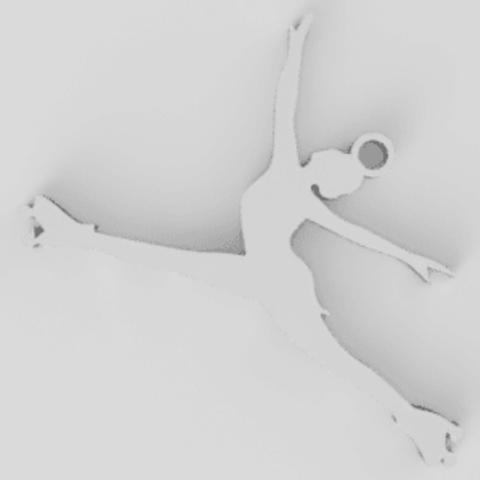 STL artistic skater keychain, gabytech19
