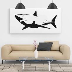 Descargar archivos STL gratis Shark Wall Art, 3d_Man