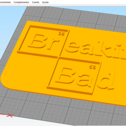 Free STL file Breaking Bad simple logo, 3d_Man