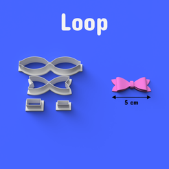 Download 3D printer files Loop Cookie/Fondant Cutter, DL3D