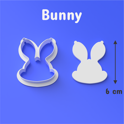 Cults 1003.png Download STL file Bunny Cookie/Fondant Cutter • 3D printing model, DL3D